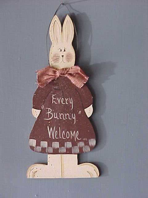 Wood Crafted Bunnies