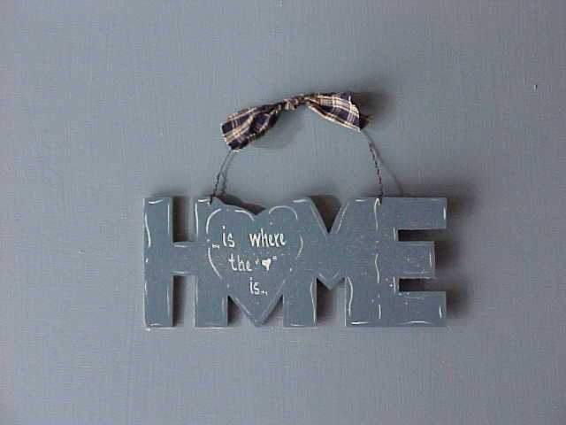 Handcrafted Wood Home Sign