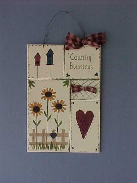Handcrafted Wood Country Blesings Sign