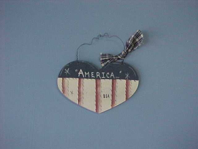 Americana Heart, Handcrafted Wood