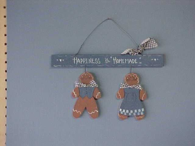 Handcrafted Wood Gingerbread Boys, Girls