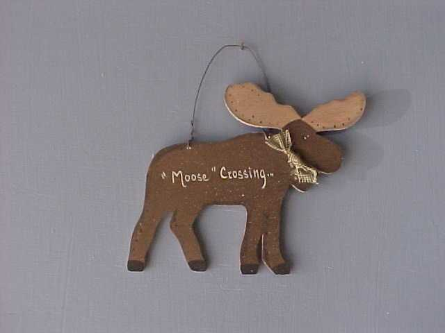 Handcrafted Wood Moose